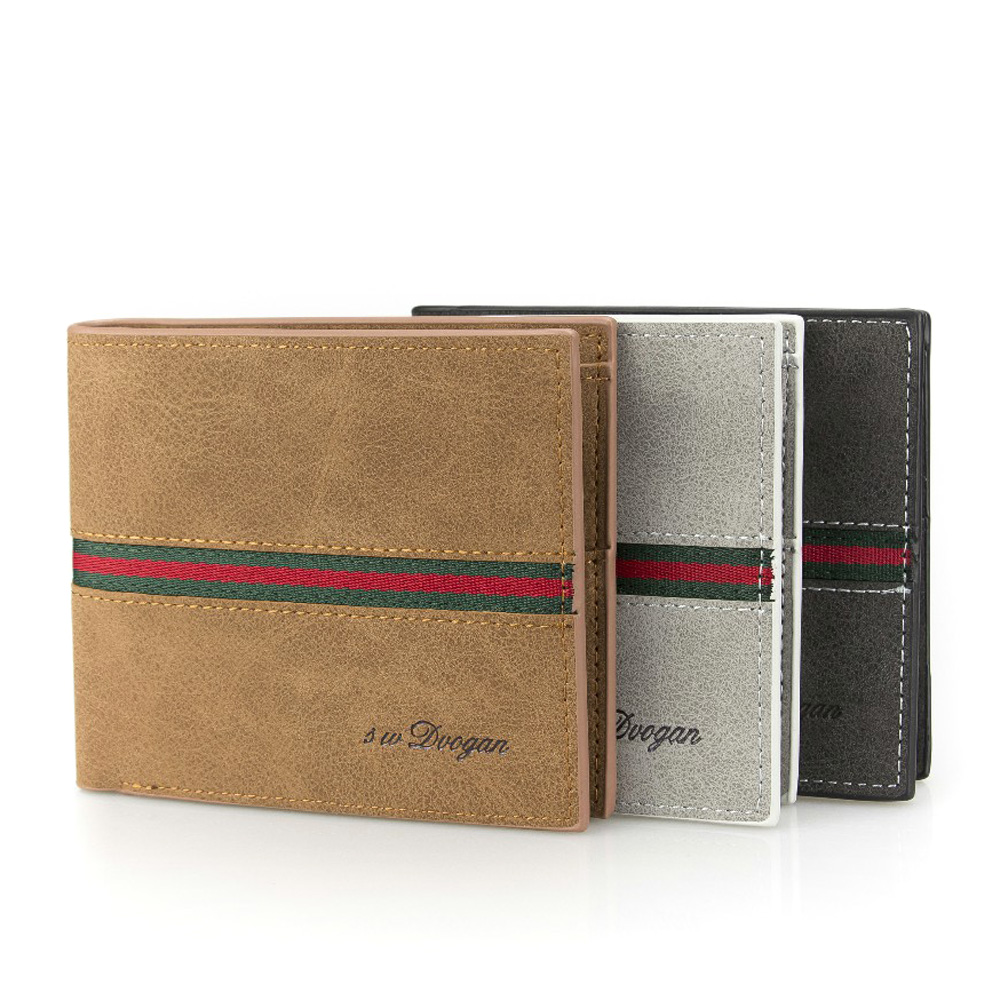 New Striped Leather Wallet Man s