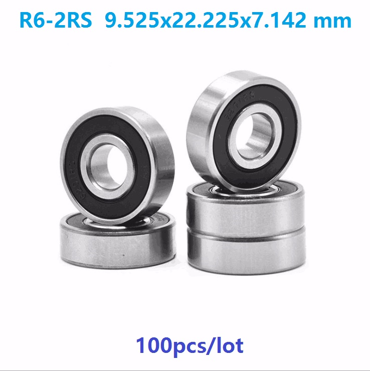 "R6-2RS rubber seals bearing R6-rs ball bearing 3//8/"" x 7//8/"" x 9//32/"" Qty.100"