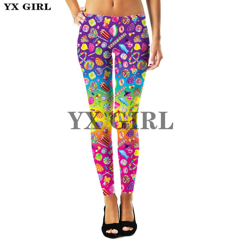 Lisa Frank Cartoon Animal Unicorn 3d Printed Leggings For Women Gothic Trousers Thermal Sexy Elastic Workout Goth Fitness Pants in Leggings from Women 39 s Clothing