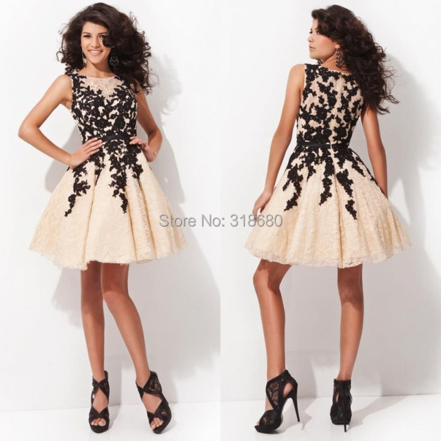 8669422f24be Free Shipping Lace Appliqued Waist Belt Short Cocktail Ball Gown Party  Dresses Online Shopping Cocktail Dresses Black