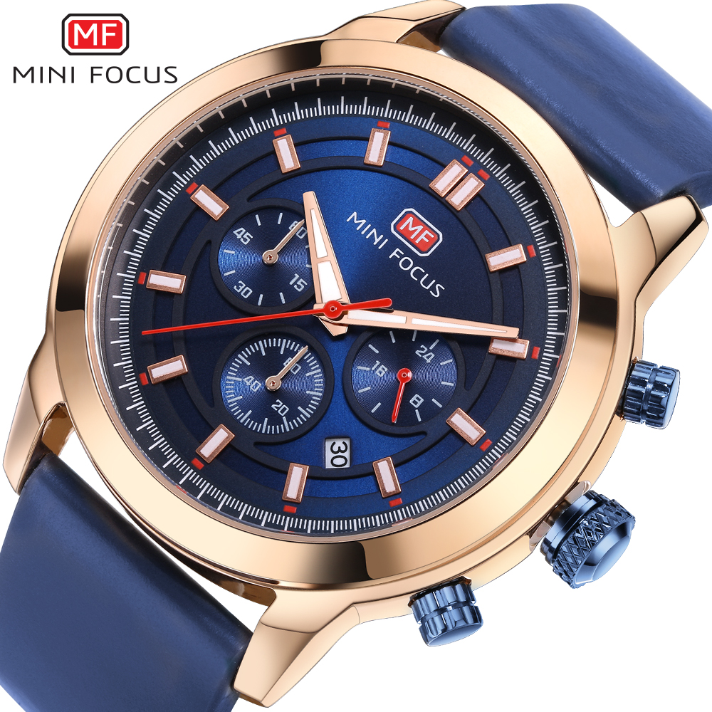 MINIFOCUS Sports Brand Quartz Mens Watches Top Brand Luxury Quartz-watch Clock Leather Strap Male Wristwatch Relogio Masculino hongc watch men quartz mens watches top brand luxury casual sports wristwatch leather strap male clock men relogio masculino