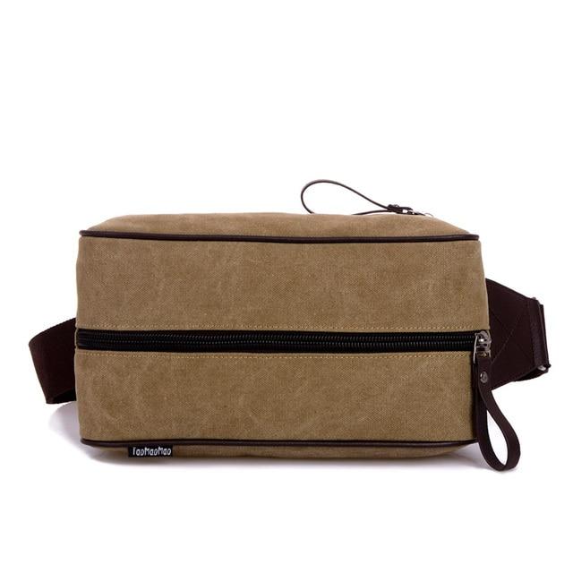 Homens 100% Saco de Lona Cooton quente Cintura Packs Para Homens Casuais Bolsa de Ombro homens Para Fora Mini Pacote de Cintura Casual Mini Homens Messenger sacos