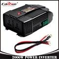 2000 W USB Carregador de Carro Adaptador De Potência Do Inversor Modificado Onda Senoidal 2000 Watt DC 12 V para AC 220 V Automotivo portátil