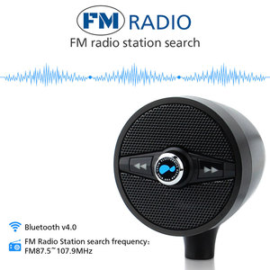 Lexin 2018 سوبر الموسيقى مشغل الصوت مع FM راديو موالف مكبرات صوت بخاصية البلوتوث ل دراجة نارية للماء المحمولة ستيريو
