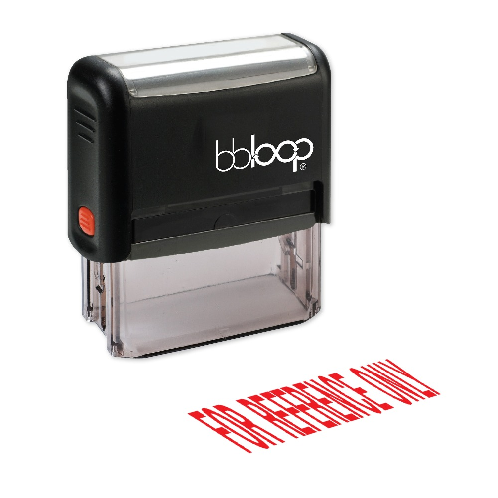 BBloop FOR REFERENCE ONLY Self-Inking Stamp, Rectangular, Laser Engraved, RED/BLUE/BLACK 10 digit 9 wheels gray light blue rubber band self inking numbering stamp