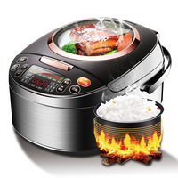 Household Intelligent Rice Cooker Rice Cooker 4L 2 6 People Panoramic Window A Key Chai Fire Rice Function