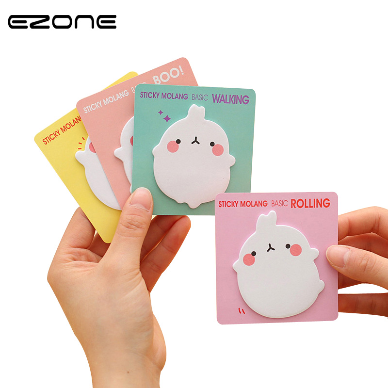EZONE 4PCS Kawaii Cartoon Sticky Note Cute Potato Rabbit With Funny Face Memo Pad Post Bookmark School Office Supply Paperalia