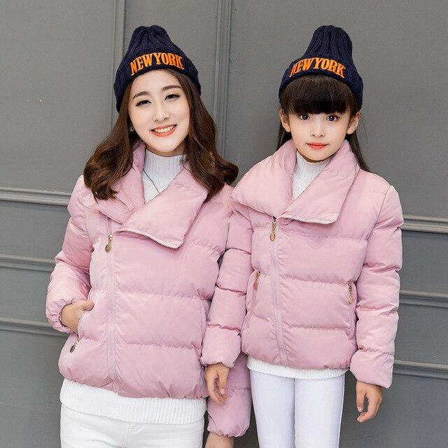 d4a8f221d Mamá bebé mamá e hija ropa niños abajo chaqueta abrigo madre e hija 2017  invierno Outwear