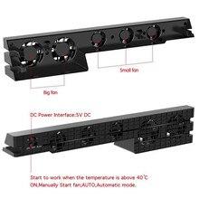 PS4 Pro wentylator chłodnicy chłodzenia Super Turbo kontrola temperatury z USB kabel do Sony Playstation 4 PS4 Pro konsola pionowa stojak