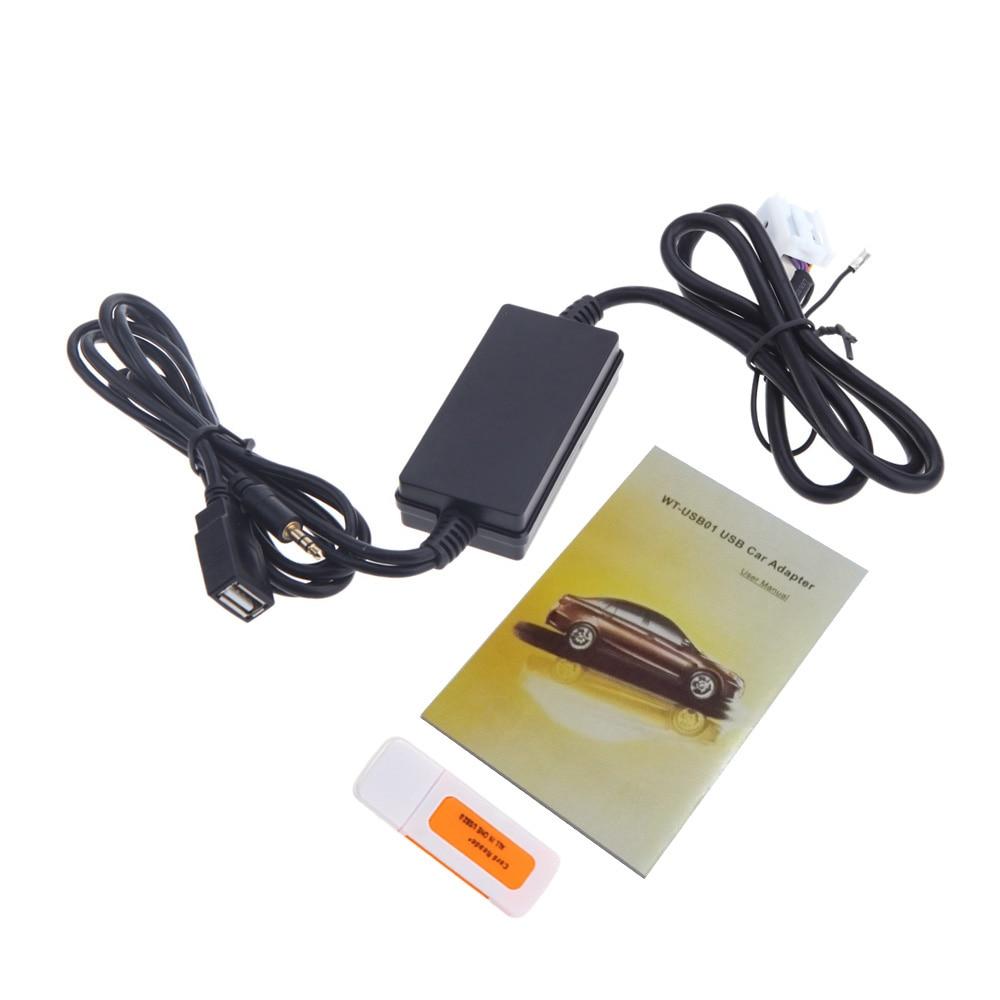 Adattatore AUX per Auto Bluetooth Cavo Stereo AUX-in per Radio Wireless per Smart ForTwo 451 5351 WT-DDJJK Adattatore a Spina
