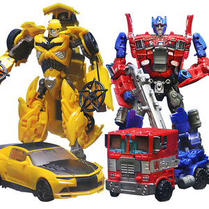 15pcs/set Transformation Deformation Robot Yellow Car Compatible Model Building Kid's Block Hobbies Car Model Education Boy Toys