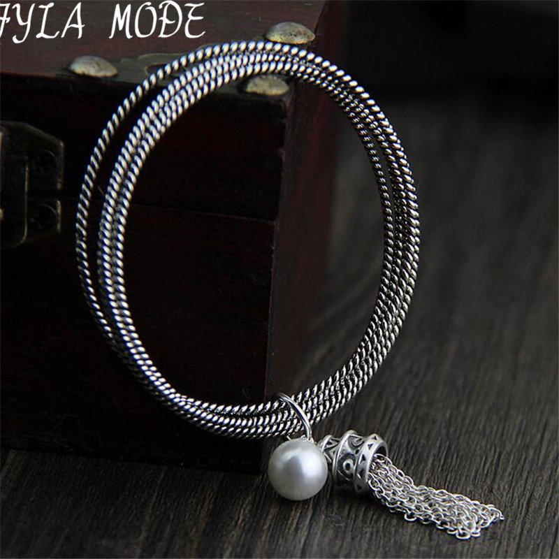 Bohemia Ethnic Jewelry Friendship Bracelet Link Chains Tassel Charms Bracelets S925 Silver Bangle Multi layers Charm BraceletBohemia Ethnic Jewelry Friendship Bracelet Link Chains Tassel Charms Bracelets S925 Silver Bangle Multi layers Charm Bracelet