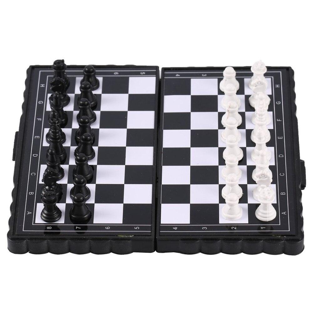 1 set Mini Chess Folding Magnetic Plastic Chessboard Board G…