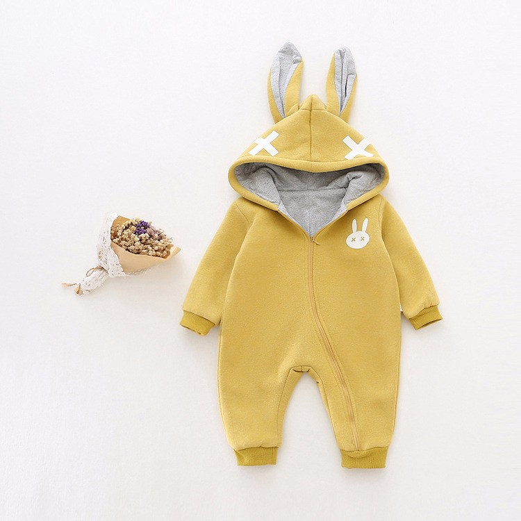 baby girl cross rabbit ear winter rompers (12)
