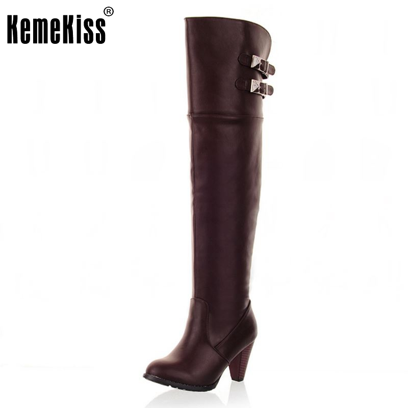 Size 34-43 Women Over Knee Boots High Heel Winter Botas Equestrian Fashion Long Boot Warm Sexy Footwear Heels Shoes Woman