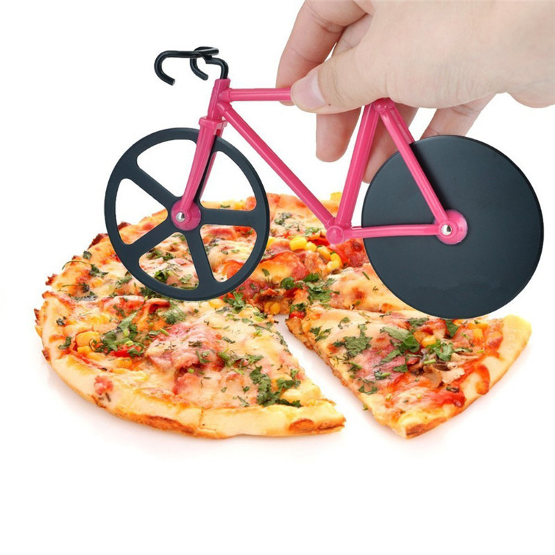Creative Bicycle Pizza scissors Stainless Steel Bike Pizza Cutter Home Dual Use...