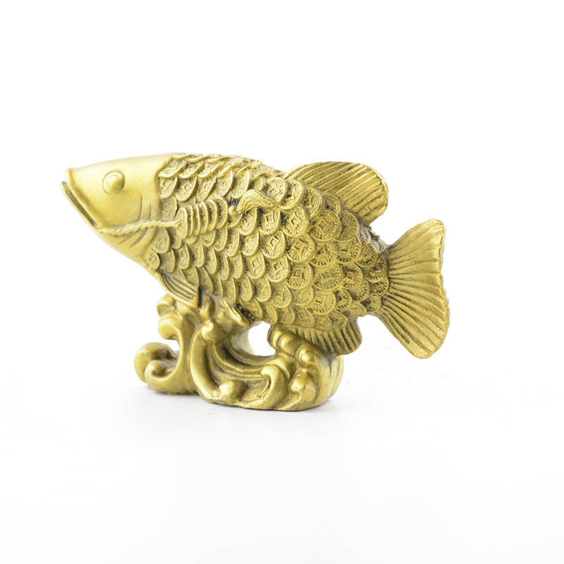 Pure copper money fish furnishing household decorative arts and craftsPure copper money fish furnishing household decorative arts and crafts
