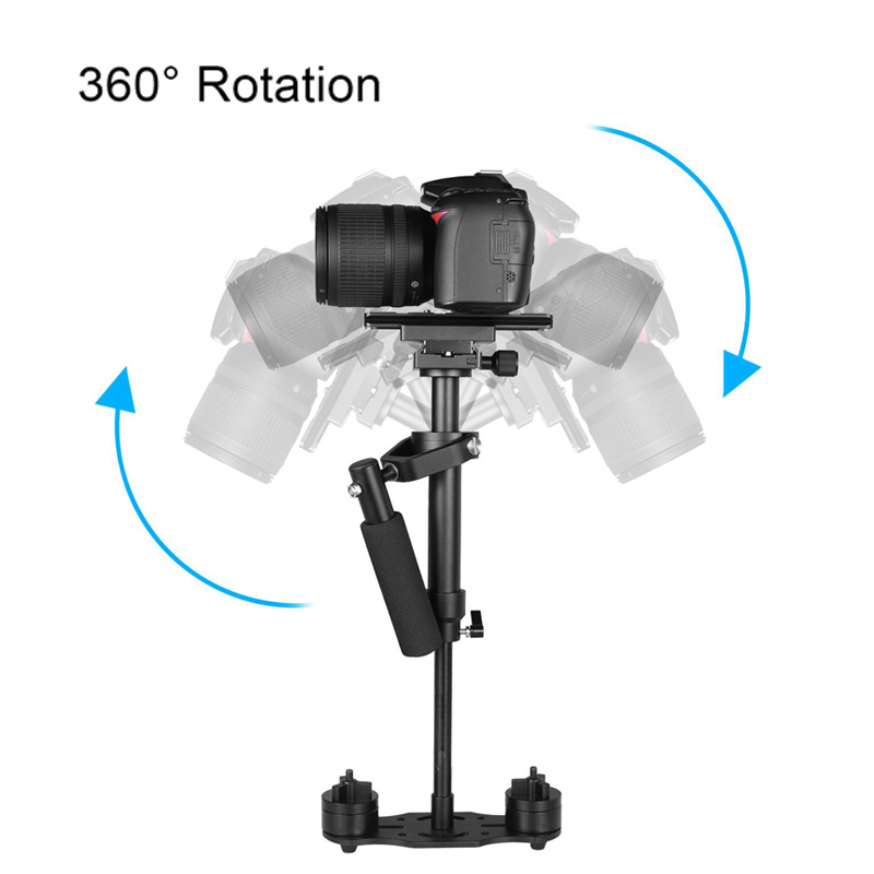 Portable Handheld Stabilizer S40 Video Steadycam Stabilizers With Quick Release Plate For Canon Nikon Sony Camera GoPro @JH dhl free yelangu ylg 0108f for sony canon camera video 1 4 screw stabilizer handheld mechanica spider stabilizer quick release
