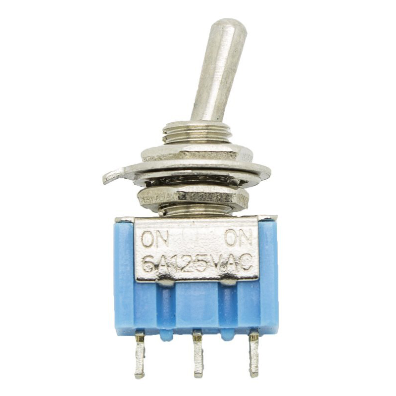 20 Pcs AC 125V 6A Amps On/Off/ 2 Position Terminal SPST Latching Mini Toggle Switch,blue & silver 5 x on off small toggle switch miniature spst 6mm ac250v 3a 120v 5a