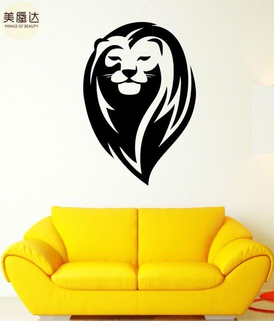 Wall Decal Lion King Mane Wild Cat Head Beautiful Animal Vinyl Stickers