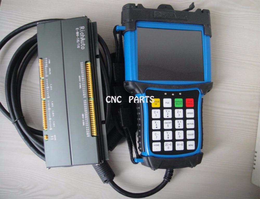 Neljateljeline cnc liikumisjuhtimissüsteem DSP A58 richauto kaubamärk värvilise ekraaniga