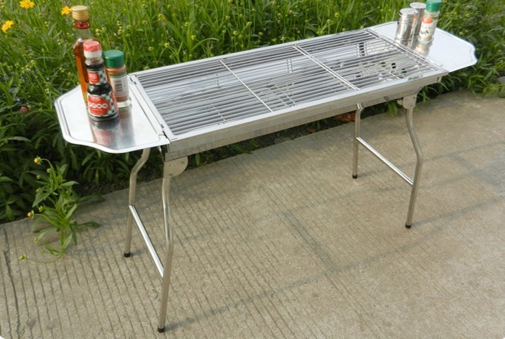 large stainless steel portable outdoor charcoal grill stove home than the wild barbecue grill rack - Stainless Steel Charcoal Grill