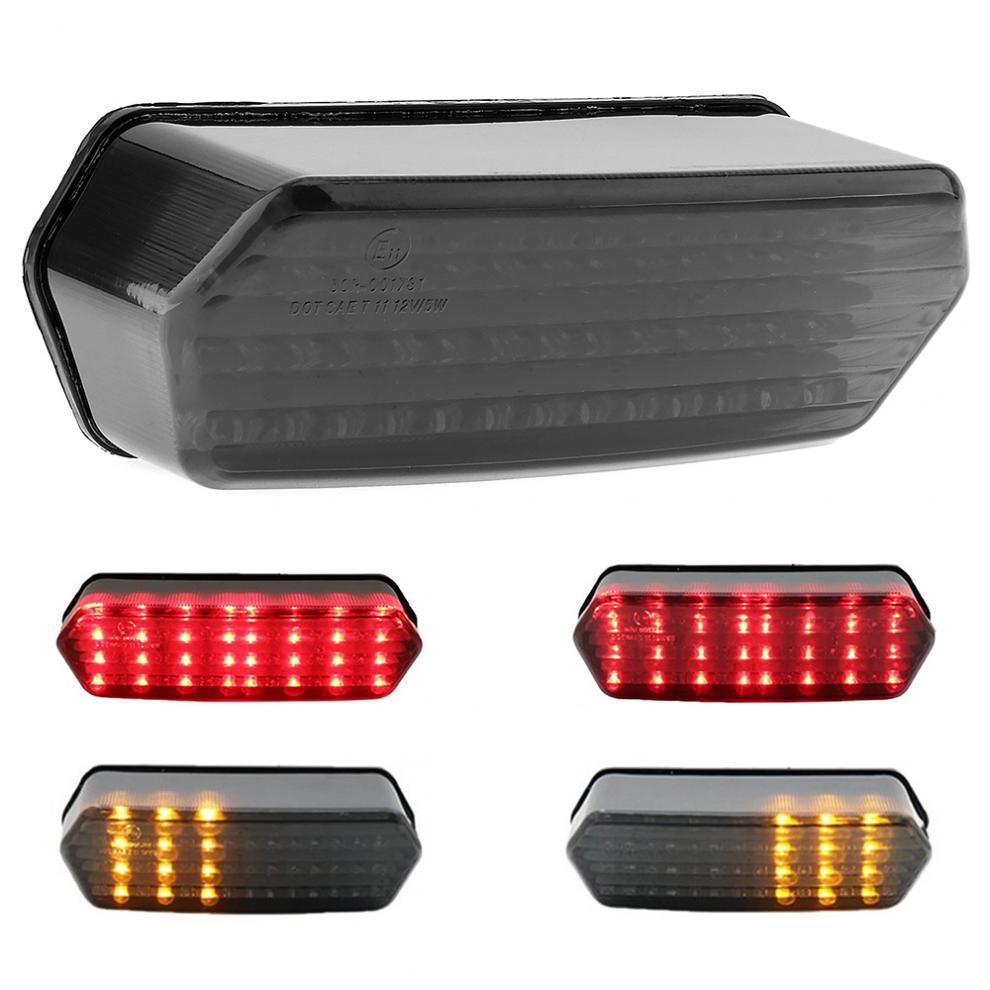 Black 12V 7.2W Refit LED Brake Light with Steering Lamp Function Motorcycle Taillight for HONDA MSX125 CBR650F CTX700