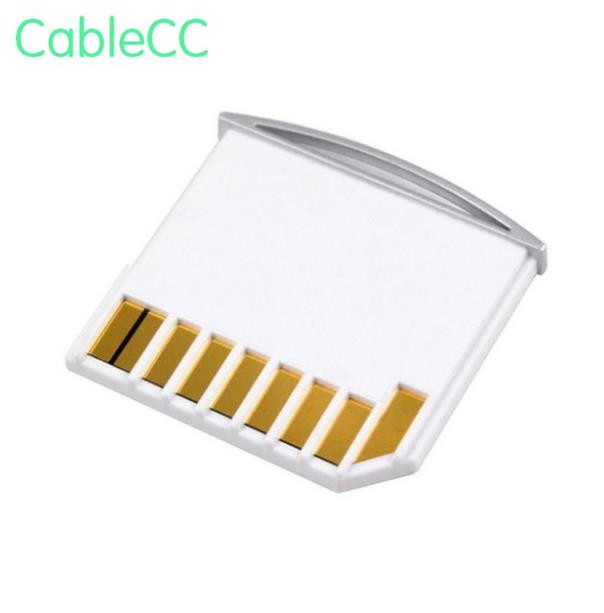 10pcs Micro Sd Tf To Sd Card Kit Mini Adaptor For Extra Storage Mac Book Air / Pro / Retina White Without Return
