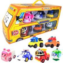 6 шт./компл. оригинальная коробка Robocar Поли корейские детские игрушки Робот-трансформер аниме экшн-Фигурки игрушки для детей Playmobil Juguetes