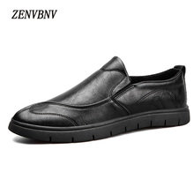 ZENVBNV 2017 New Fashion Microfiber Pu Slip On Leather Shoes Men Casual Shoes Man Shoes For Spring Autumn Shoes Free Shipping
