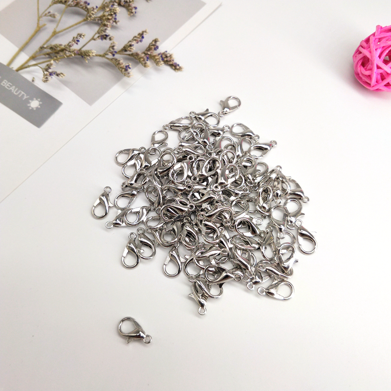 300pcs lot Stainless Steel Lobster Clasp Hooks for Necklace Bracelet Chain DIY Fashion Jewelry Findings 12x6mm in Buckles Hooks from Home Garden