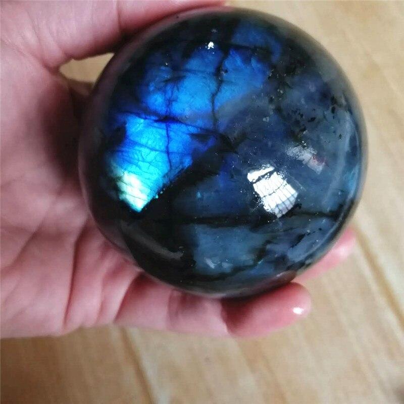 Мигающий натуральный лабрадорит, хрустальный шар, энергетический камень, драгоценный камень, отлично подходит для медитации, украшение для...