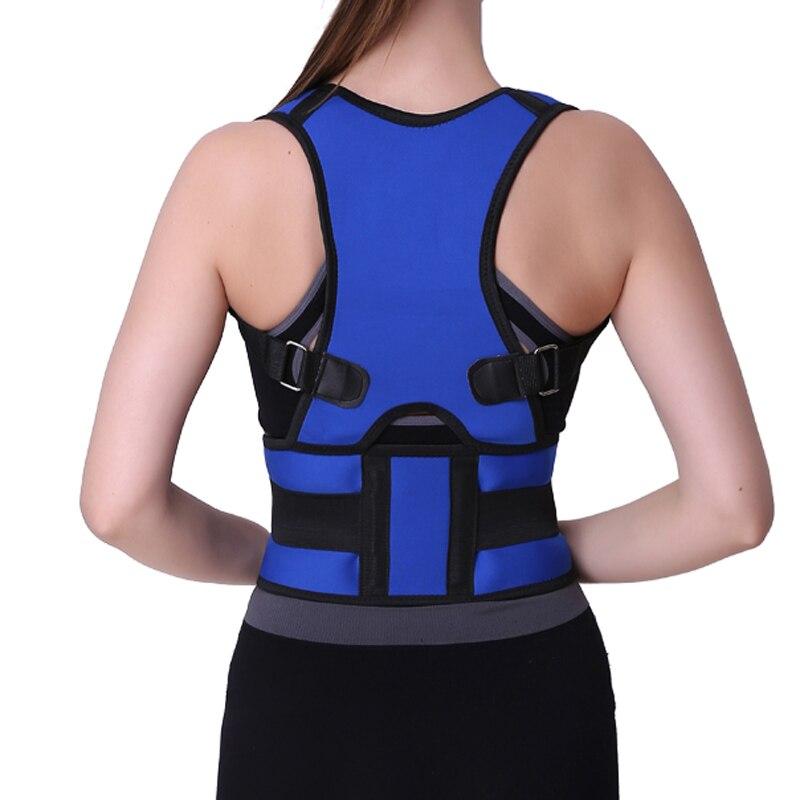 Adulto ajustable corsé volver corrector de postura espalda hombro lumbar spine cinturón de apoyo postura corrección BKL01