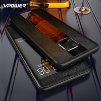 Mate 20 Luxury Genuine Leather Case For Huawei Mate 20 pro Case Mate 20RS Leather Flip Case For Huawei Mate 20 X Protector Cover