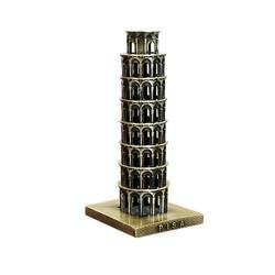 Tour Souvenir Italy The Leaning Tower of Pisa Souvenir Metal Model Bronze Colors