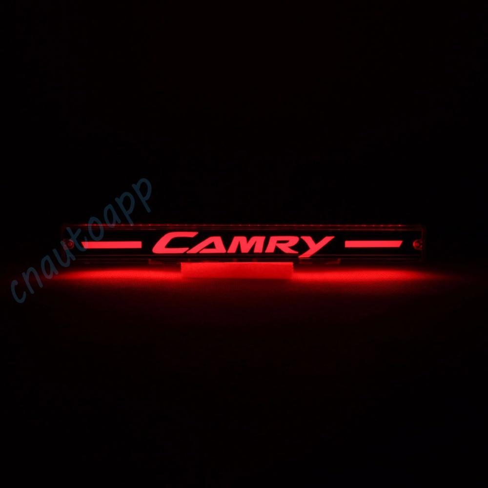 Car Additional Brake Light LED Braking Light Third Brake Light Brake Bar Driving Lamp For Toyota Camry 2010-2016