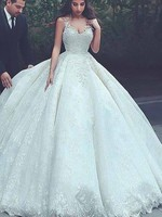Arabic Ball Gown Wedding Dress Puffy Appliques Boho Wedding Dress Lace Up Plus Size Custom Made Large Size Wedding Gowns 2019