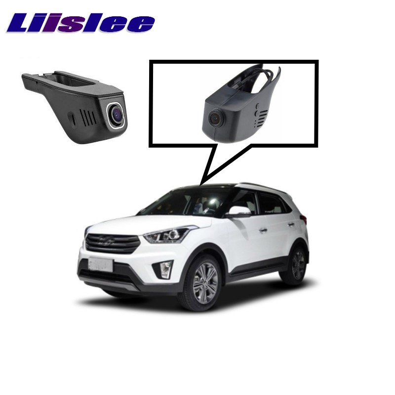 LiisLee Car Black Box WiFi DVR Dash Camera Driving Video Recorder For Hyundai ix25 Creta Cantus 2014~2017 for kia carnival car driving video recorder dvr mini control app wifi camera black box registrator dash cam original style