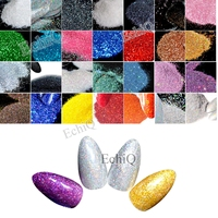 Nail Glitter 0 2mm Nails Art Manicure UV Tip Decoration 100g Pack Black Red Blue And