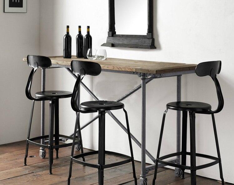 Designer vintage wrought iron bar stool bar stool tall bar chairs ...