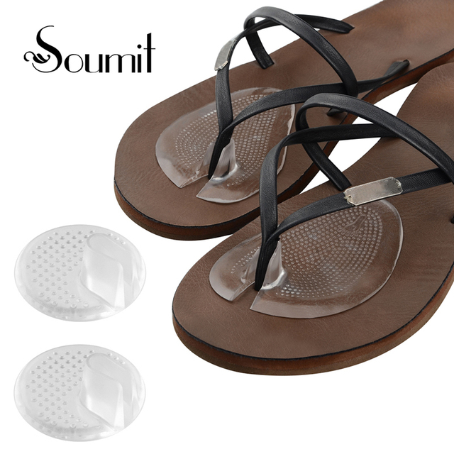 b526ad0e2 2Pair Summer Forefoot Pad Silicone Heel Invisible Flip Flop Sandals Slip  Resistant Half Yard Pads Insoles Toe insoles