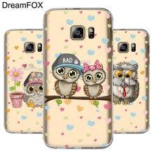 DREAMFOX L574 Cute Owl Soft TPU Silicone Case Cover For Samsung Galaxy Note S 5 6 7 8 9 10 10e Lite Edge Plus Grand Prime