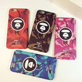 2016 New Cool 5S Bape Чехол Для Iphone 5 5s 6 6 s 6 Плюс Питекантроп Камуфляж Скраб Телефон Оболочки Кожи Защитный чехол Назад крышка