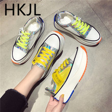 HKJL Womens shoes 2019 summer new round head breathable casual Korean version matching A566