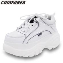 COMFABEA أحذية نسائية 2020 أحذية منصة نسائية غير رسمية أحذية رياضية أحذية الربيع النساء سميكة وحيد الزواحف الأحذية الرياضية