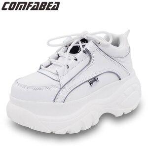 Image 1 - COMFABEA zapatos de mujer 2019 Casual zapatos de plataforma para mujer Zapatillas de invierno zapatos de mujer gruesa suela Creepers calzado deportivo