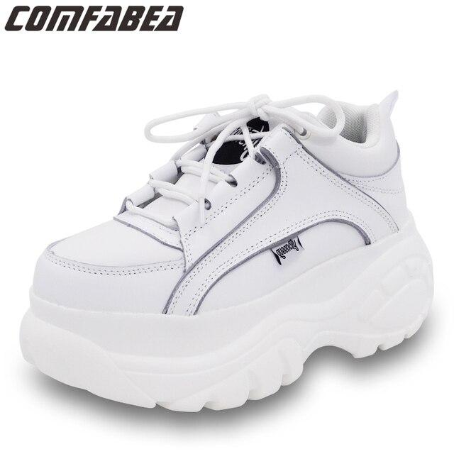 COMFABEA zapatos de mujer 2019 Casual zapatos de plataforma para mujer Zapatillas de invierno zapatos de mujer gruesa suela Creepers calzado deportivo