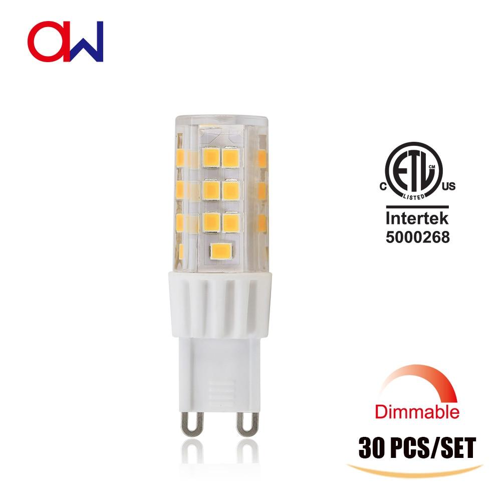 Real 30pcs Lot G9 Led Bulb Dimmable Ac 120v 230v 360