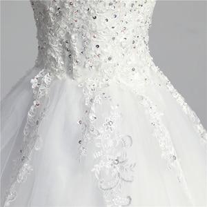 Image 5 - 100% foto real em estoque moda laço flor querida fora do branco sexy vestido de casamento muçulmano para noivas vintage applique lantejoulas