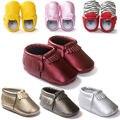 Первые ходоки горячие! 21 Новый стиль детские мокасины искусственная кожа мягкая подошва детская обувь бахрома новорожденный малыш обувь для мальчиков девочек